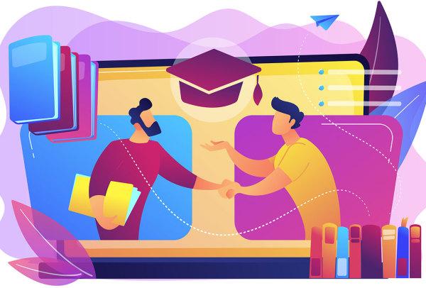 45个具有教育概念的教育场景创意插画 第1卷(AI、EPS)