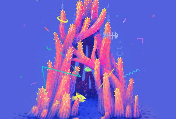 通过字母形式展现珊瑚世界的奇观:Lena Vargas 作品