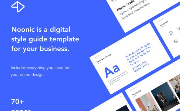 品牌识别和样式指南 演示模板 138个页面布局含明暗模式