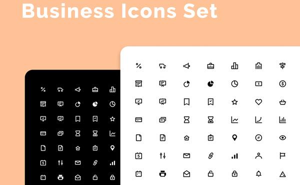 64个设计师常用的商业象形矢量图标素材 适用任何设计项目