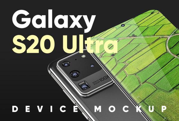 三星Galaxy S20 Ultra设备样机素材 6个高分辨率三星样机