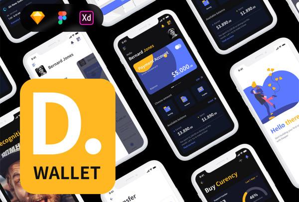 银行|金融|钱包|加密货币移动APP高级UI套件 252个屏幕布局