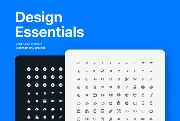 200个手工制作的矢量图标素材 适用于任何Web或移动项目