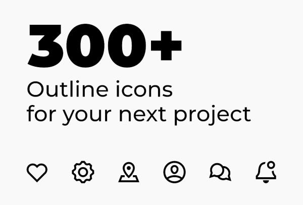 300多个完美像素的多用途矢量图标素材 适用任何设计项目