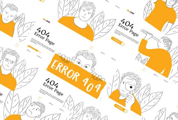 11幅手绘风格的空状态矢量插画素材 用于404错误页|空白页