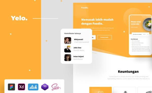 Yelo 交互式网页设计 自适应PC和移动端HTML响应式网页