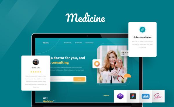 Medicine 医药健康 医疗保健网页模板 2个HTML响应式网页