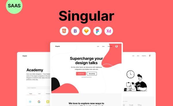 Singular 快速设计和开发的高级SaaS模板 HTML响应式网页