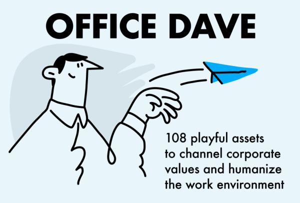 工作场所的日常 28个俏皮的人物矢量插画和80个矢量图标