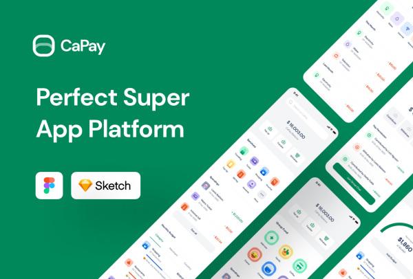 CaPay 高质量数字钱包 移动支付类应用UI套件 68个UI布局