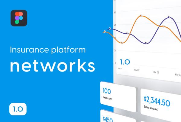 网络保险平台SaaS仪表板 Web应用UI套件 82个UI设计布局