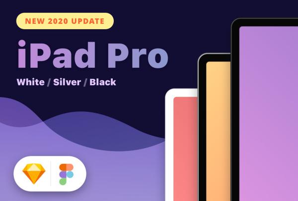 iPad Pro 2020 样机模型 白色/银色/深空灰色 尺寸11/12.9