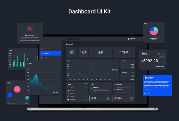 Web仪表板UI套件 70多个Web应用UI组件和20多个UI布局